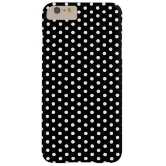 Simple Black and White Polka Dot Basic Pattern Barely There iPhone 6 Plus Case