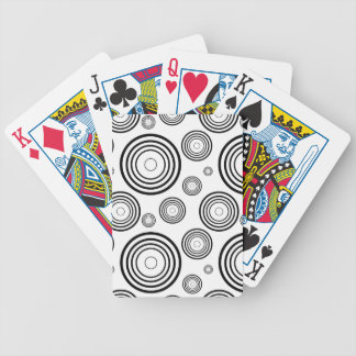Simple Black and White Rings Bicycle Playing Cards