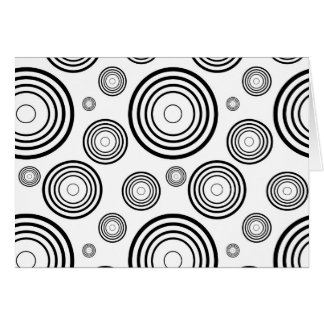 Simple Black and White Rings Card