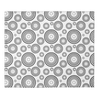 Simple Black and White Rings Duvet Cover