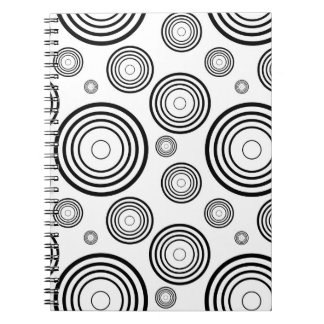 Simple Black and White Rings Notebook