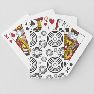 Simple Black and White Rings Playing Cards