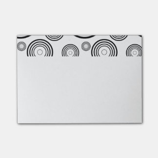 Simple Black and White Rings Post-it Notes