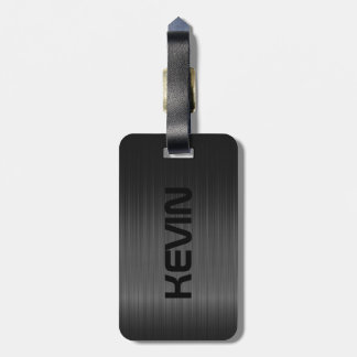 Simple Black Carbon Fiber Texture Luggage Tag