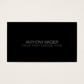 simple black color to personalize business card