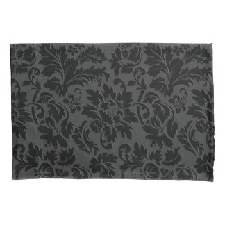 Simple Black Damask Pattern Pillowcase