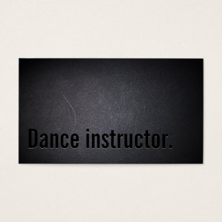 Simple Black Dance instructor Business Card