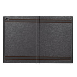 Simple Black Faux Leather Look Monogram Powis iPad Air 2 Case