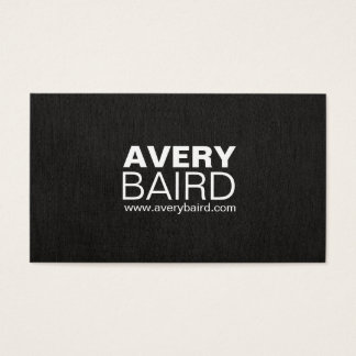 Simple Black Faux Linen Professional Business Card