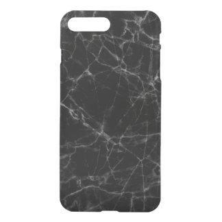 Simple Black Faux Marble Stone iPhone 7 Plus Case