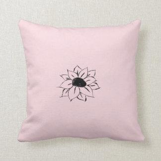 SImple Black Flower Pillow
