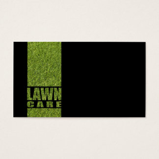 Simple Black Lawn Care Grass Card