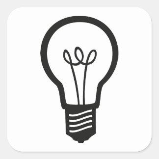 Simple Black Light Bulb for Many Creative Ideas Square Sticker