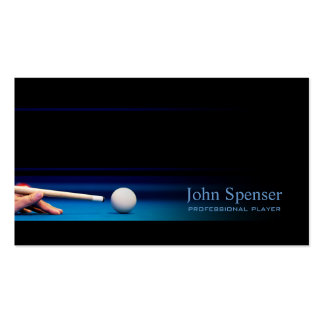 Simple Black Pro Pool Player/Coach Card Business Card