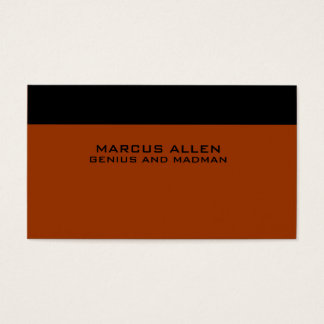 Simple Black & Rust Business Card