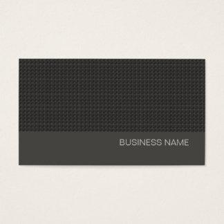 Simple Black Urban Modern Charcoal Gray Business Card