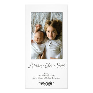Simple Black White Merry Christmas Card