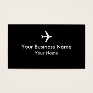 Simple black white plane business cards