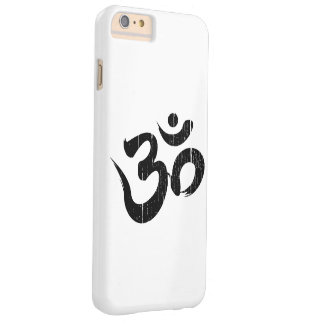 Simple Black & White Scratched Om Symbol Yoga Barely There iPhone 6 Plus Case
