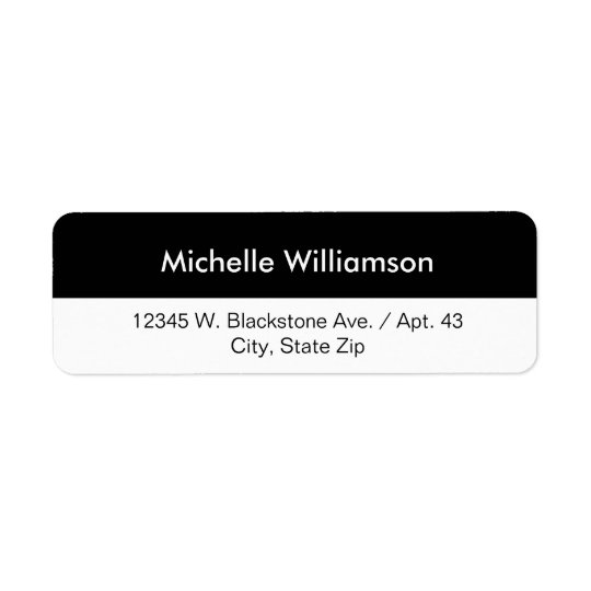 Simple Black White Stripe Custom Name or Company