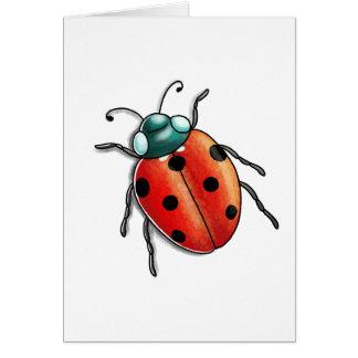 Simple Blank Ladybird ladybug Card
