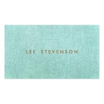 Simple, bleu de turquoise, minimaliste élégant carte de visite standard