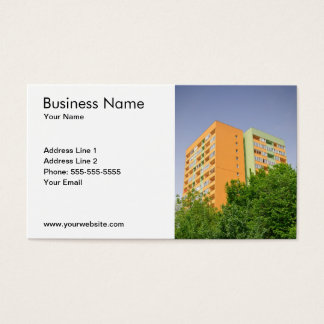 Simple Block of Flats Photo Realtor Business Card