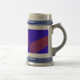 Simple Blue Abstract with Slashing Colors Mug