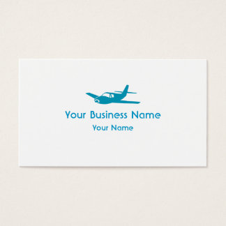 Simple blue airplane custom business cards