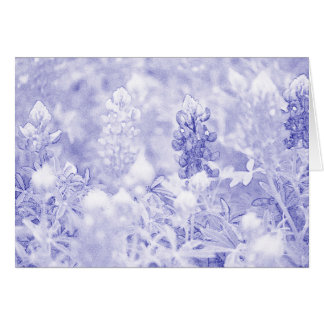 Simple Blue and White Greeting Card