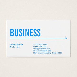 Simple Blue Arrow Referee Business Card