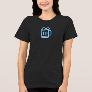 Simple Blue Beer Mug Icon Shirt