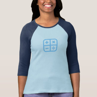 Simple Blue Calculator Icon Shirt