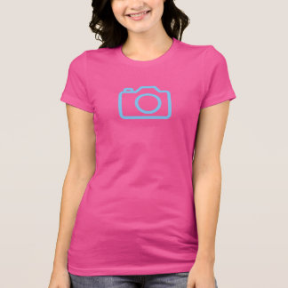 Simple Blue Camera Icon Shirt