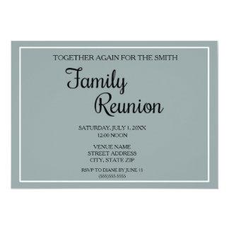 Simple Blue Family Reunion Invitation