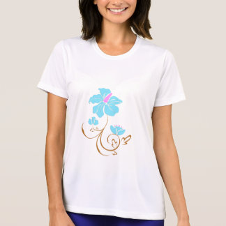 Simple Blue Flower T-Shirt