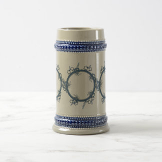 Simple Blue Fractal Beer Stein