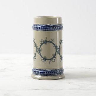 Simple Blue Fractal Beer Steins