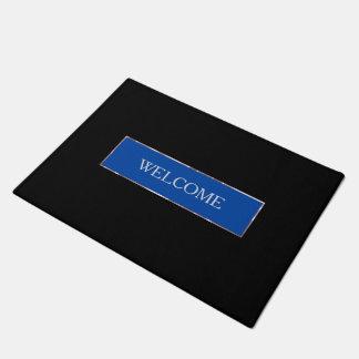 Simple Blue Frame Doormat