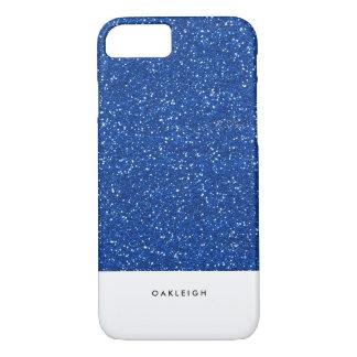 Simple Blue Glitter iPhone 7 Case