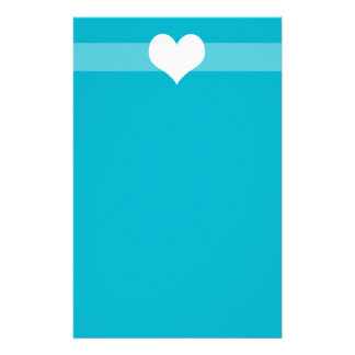 Simple Blue Heart Stationary Stationery