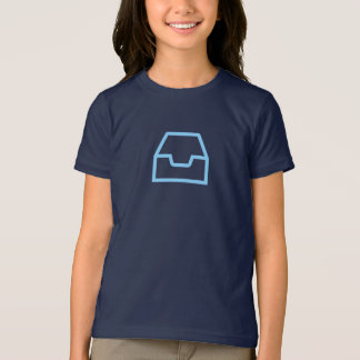 Simple Blue Inbox Icon Shirt