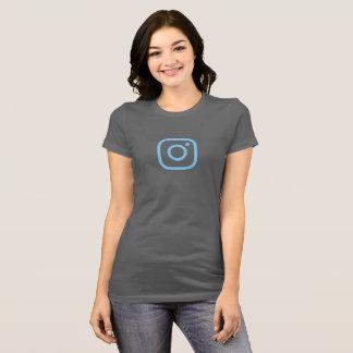 Simple Blue Instagram Icon Shirt