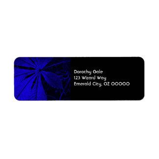 Simple Blue Leaf Return Address Label
