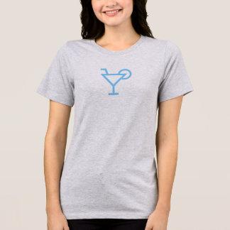 Simple Blue Martini Icon Shirt