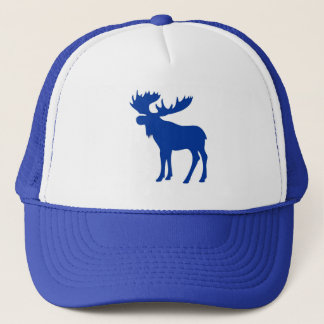 Simple blue moose hat