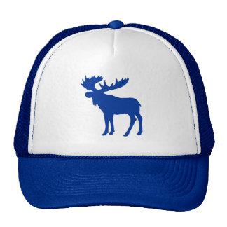 Simple blue moose hat