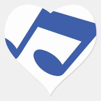 Simple blue note heart sticker