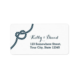 Simple Blue Rope Knot Return Address Labels