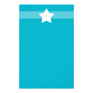 Simple Blue star Stationary Custom Stationery